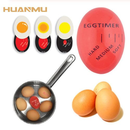 Mini Egg Timer Kitchen Timer Egg Accessories Resin Cooking Egg Kitchen Tool Eco-Friendly Changing Timer  Soft Hard Boiled Eggs