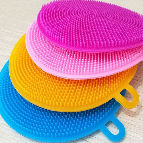 tenmiu Insulated Kitchen Brush Cleaning Multi-function Vegetable Cloth Sponge Sponge for Tableware for Washing Dishes Silicon