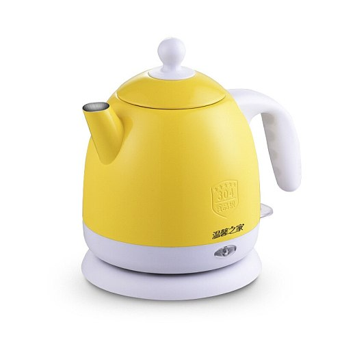 Thermal insulation Electric kettle Hot Water heating Boiler Pot Stainless Steel 1L Mini Travel teapot milk heater Warmer EU US