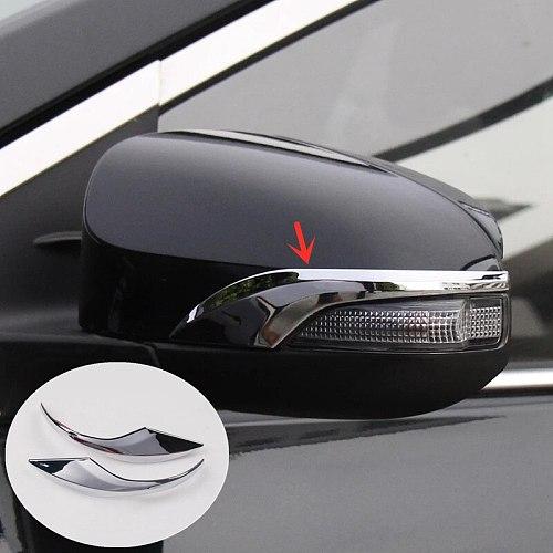 For Toyota Corolla 2014 2015 2016 2017 Altis E170 Chrome Side Door Rear View Mirror Cover Trim Garnish Molding Overlay Strip