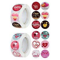 500pcs Love Heart Paper Sticker Valentine's Day Label Scrapbooking Gift Packaging Seal Sticker Birthday Party Wedding Supplies