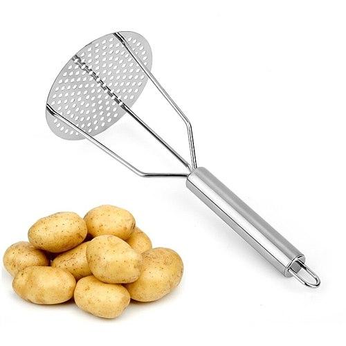 2020 Stainless Steel Potato Masher Ricer Puree Garlic Presser Vegetable Fruit Press Maker Gadget Kitchen Accessories