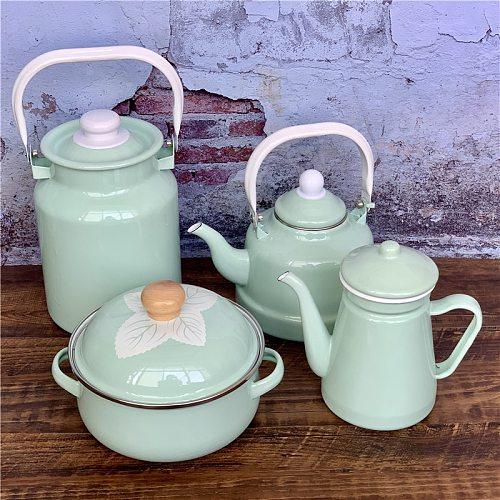 Mint Series Teapots Enamel Enamel Kettle Household Kitchen Utensils