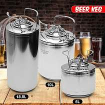 20L Stainless Steel Ball Lock Beer Keg Pressurized Growler for Dispenser System Home Brewing Craft