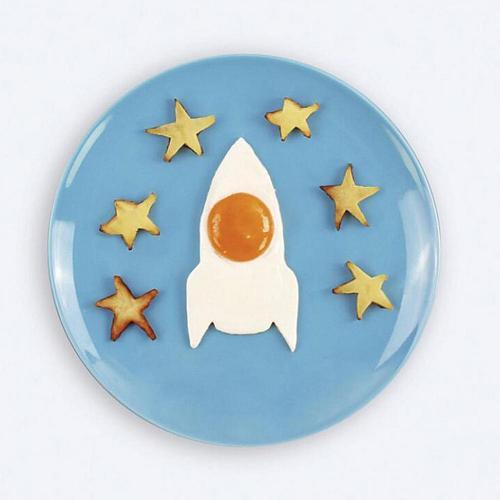 Rocket Shape Silicone Fry Egg Frame Cake Mold Ring Kitchen gadgets Baking Tool Creative Shaper Omelette Mould