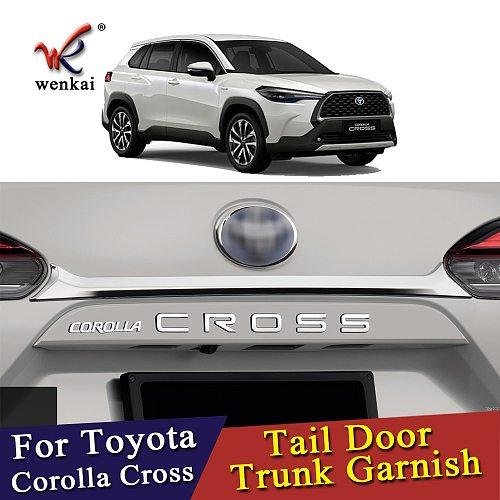 For Toyota Corolla Cross 2020 2021 Tailgate Trim Trunk Lid Garnish Sticker ABS Chromium Styling