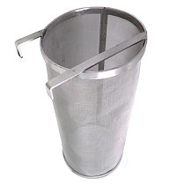 Realand 400 Micron Stainless Steel Home Brewing Beer Pellet Hop Filter Strainer Hop Spider for Brew Kettle with Handle