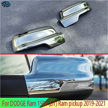 For DODGE Ram 1500 (DT) Ram pickup 2019-2021 ABS Chrome Door Side Mirror Cover Trim Rear View Cap Overlay Molding Garnish