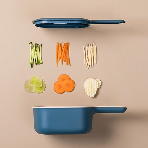 Vegetable Cutter Grater Round Handle Potato Carrot Slicer Scoop Kitchen Tool Used for washing and draining, slicing as a scoop.