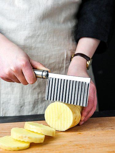 Potato wave knife cut flower vegetable slicer fancy potato chips kitchen accessories tool chopper vegetable slice slicer peeler