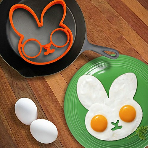 1PC New Arrival Cook Fried Egg Pancake silica gel rabbit Shaper Mould Mold Kitchen Tool Rings OK 0240