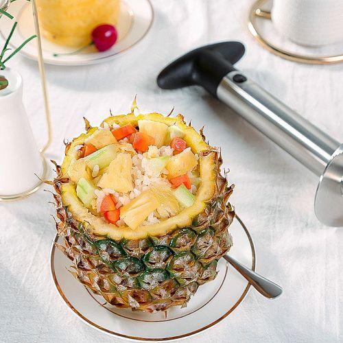 Easy Kitchen Tool Stainless Steel Pineapple Fruit Corer Slicer Cutter Peeler New 517C