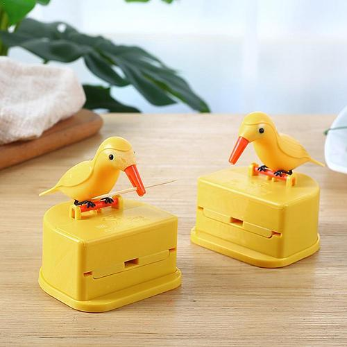 New Small Bird Toothpick Container Holder Automatic Toothpick Holder Decoration Home Accessories Kitchen Toothpick Dispenser