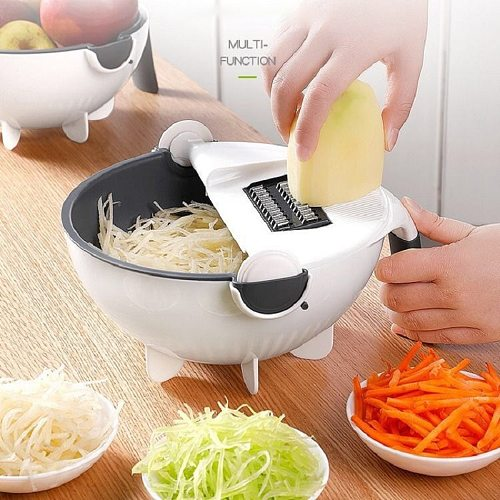 New Multifunctional Vegetable Cutter Slicer Potato Peeler Carrot Onion Grater with Strainer Kitchen Accessories Tools