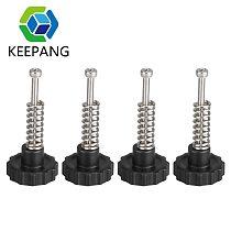 12pcs 4 Sets New DIY Leveling Modules 3D Printer Heatbed Leveling Kit 4pcs Adjustment Nut+4pcs Springs+4pcs M3 Screw Heatbed Kit