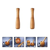 2pcs Wooden Food Muddler Grinding Rod Wood Pestle Professional Muddler Mill Tool Grinder Kitchen Tools