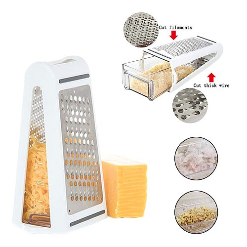1PC Grater Stainless Steel Cheese Grater Manual Vegetable Cutter Slicer Cheese Butter Grater Fruit Tomato Slicer Kitchen Gadget