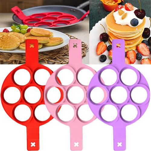Silicone Non-stick Fried Egg Mold Pancake Mold Maker Silicone Forms Non-stick Simple Operation Pancake  Kitchen Accessories