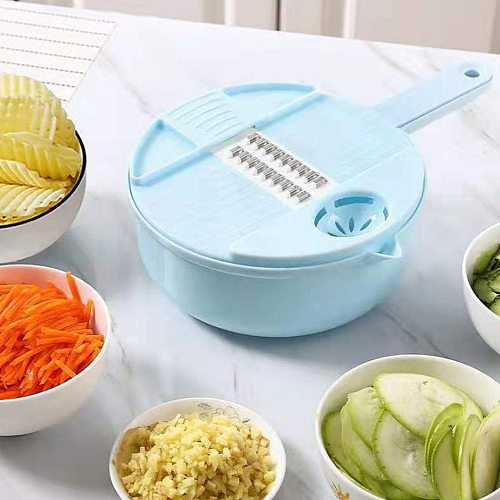 1 Set Multi-function Easy Food Chopper 12 IN 1 Mandoline Slicer Vegetable Cutter Potato Onion Carrot Grater Chopper Food Dicer