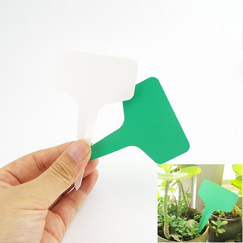 100X PVC greenhouse Plant T tags Labels Flower Pots Plastic Markers Sign Waterproof herbs plant Garden Tools supplies