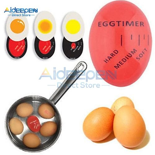 1Pcs Egg Timer Boiled Eggs Timer Environmental Food Grade Plastic Kitchen Cooking Tools Perfect  Control Boiled Egg Temperature