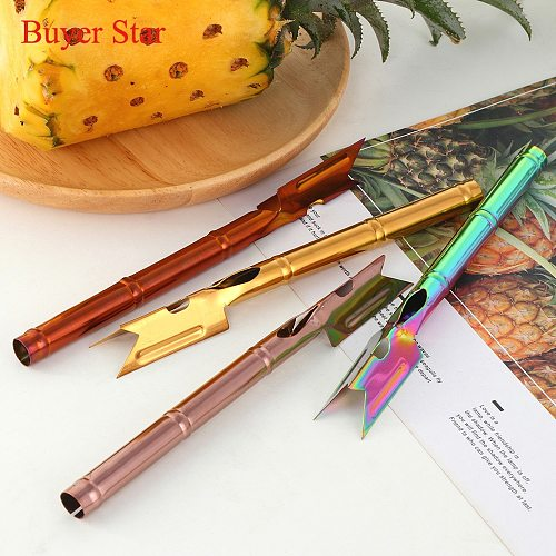 4PCS Pineapple Eye Peeler Pineapple Seed Remover Kitchen Stainless Steel Cutting Clip with Pineapple Knife Home Kitchen Gadgets