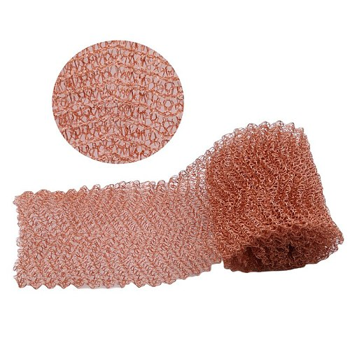 4 wire Copper Mesh Filter,Column Packing, Woven Wire Screen Filter For Distillation, Width 10cm ,Length 1m, Diameter 0.15mm