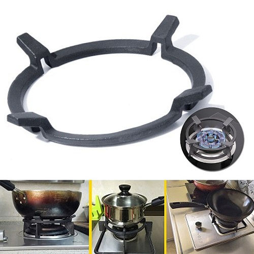 Wok Stand Cast Iron Wok Pan Support Rack for Burners Protective Cover Gas Hobs Cookers Kitchen Supplies Tool Accessories