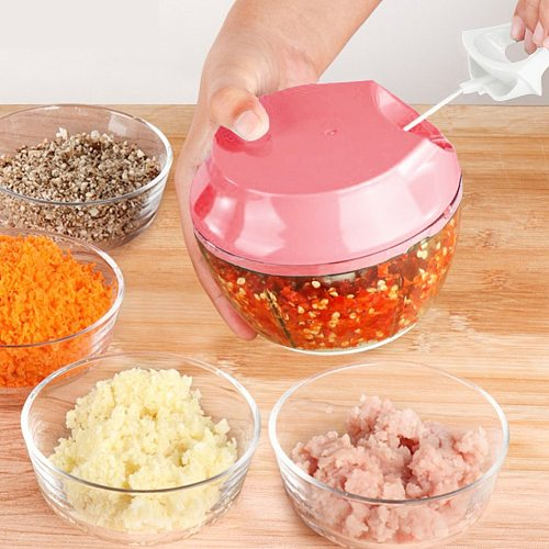 Manual Meat Grinder Kitchen Fruit Shredder Ginger Chopper Garlic Cutter Slicer for Household Kitchen Easy Supplies