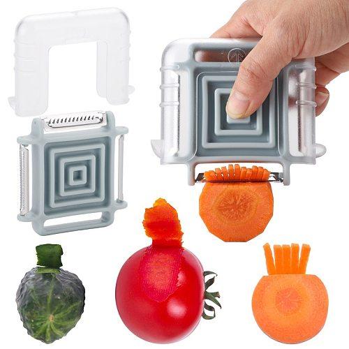 Multi Function Peeler 3 In 1 Magic Vegetable Fruit Shredder Slicer Peeler Julienne Cutter Grater Zesters Kitchen Accessories