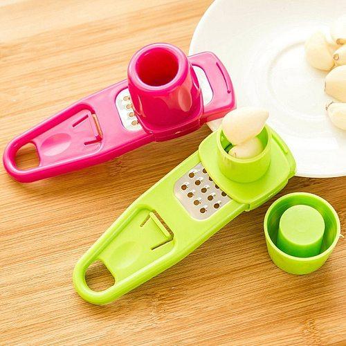 Kitchen Gadget Garlic Peeler Functional Ginger Garlic Press Grinding Grater Planer Slicer Cutter Cooking Tool Kitchen Accessorie