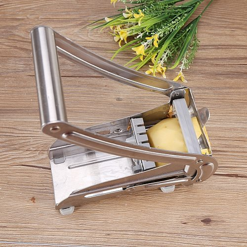 Stainless Steel French Fry Cutter Potato Vegetable Slicer Chopper Dicer 2 Blades Great For Home Or Resturant