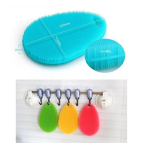 For Waterdrop Antibacterial Silicone Cleaning Brush Dishwashing Sponge Antibacterial Washing Fruit Vegetable Brush Kitchen Tools