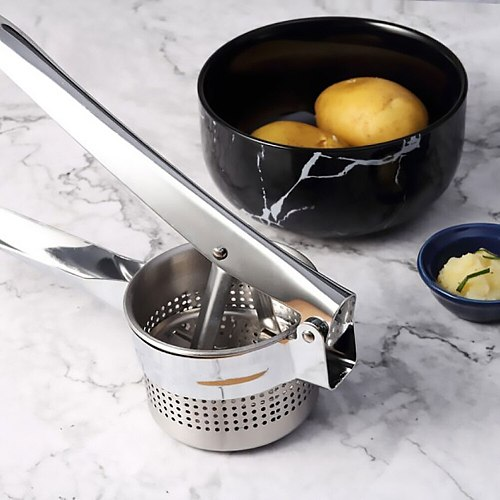 Potato Presser Potato Mashers 403 stainless steel potato machine kitchen tool Puree Vegetable Fruit Press Maker Garlic Presser