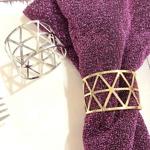 Creative Diamond Alloy Napkin Ring Wedding Party Table Decoration Accessories Kitchen Supplies