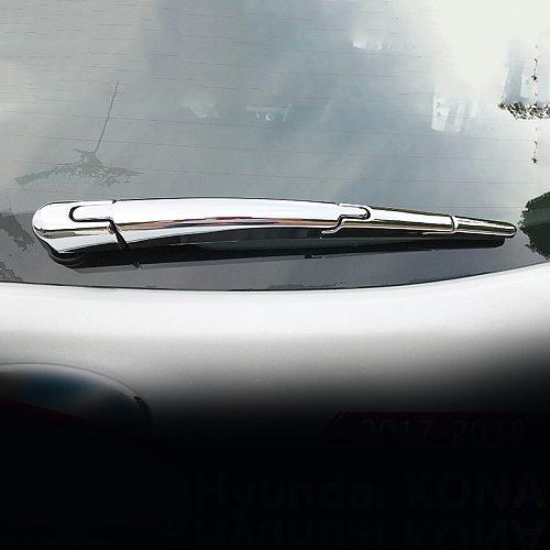 For Hyundai Kona Encino 2017 2018 2019 ABS Car Rear Trunk Window Wiper Arm Blade Cover Trim Overlay Nozzle Garnish Accessories