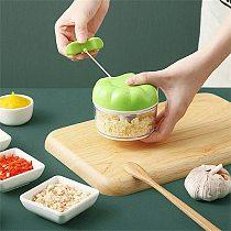 Manual Garlic Press Multi-function Garlic Grinding Chopper Food Vegetables Cutter Meat Grinders Kitchen Gadgets Garlic Artifact