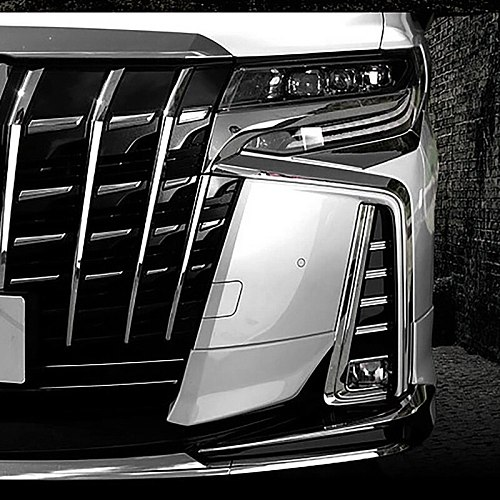 for Toyota Alphard 30 Series Front Bumper Trim Protector Strip Fog Lamp Fog Light Garnish Strip Chrome Decorative Strip