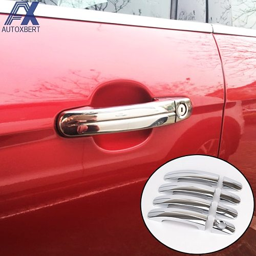 Chrome Door Handle Cover For Ford Focus 2 Mk2 Trim Catch Overlay Cap Cup 2005 2006 2007 2008 2009 2010 2011 Molding Garnish