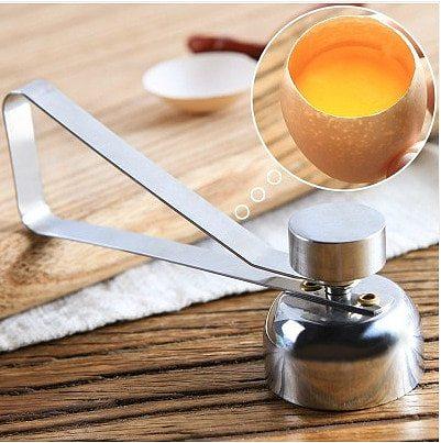 Egg Opener Glutinous rice egg magic device manual stainless steel egg cutter small mouth egg opening egg cracker egg shell ope