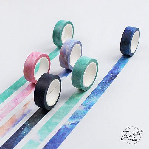 1.5cm*7M The Fantastic Dream Color Decorative Washi Tape DIY Scrapbooking Sticker Label Masking Tape School Office Supply