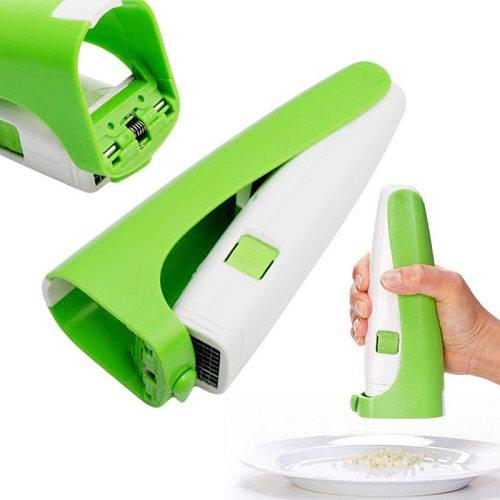 1pc Green Garlic Cutter Home Tools Garlic Cube Cutter Squeeze Kitchen Accessories Garlic Press Chopper High Quality