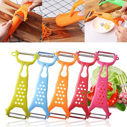New 1 Pc Multi-function Grater Peeler Kitchen Vegetable Carrot Gadgets Fruit Paring Knife Double Head