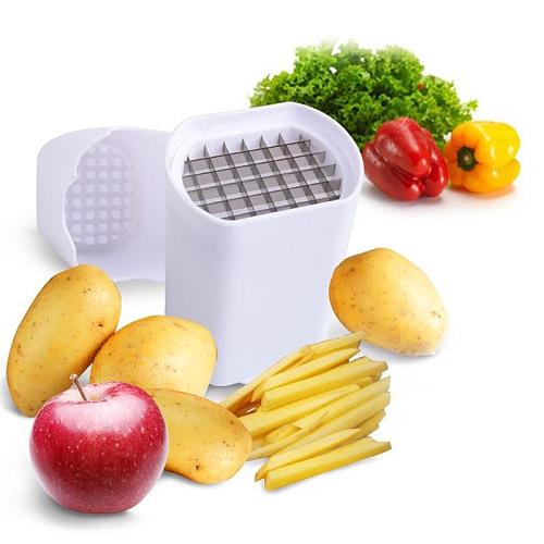 Professional Potato Fry Cutter Fries Chips Vegetable Natural French Fry Cutter Vegetable Fruit Cutter Slicer Tool 12.5 x 9.5 cm
