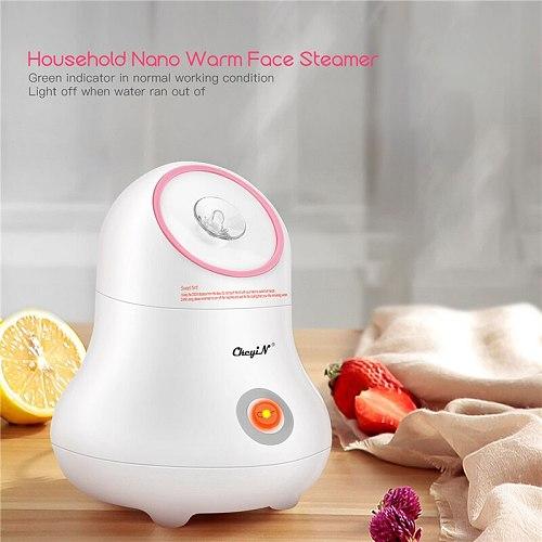 Household Warm Facial Steamer PTC Fast Heat Nano Mist Spray Water Whitening Lady Skin Care Deep Moisture Beauty Instrument