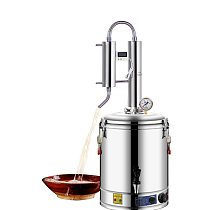 220V Alcohol Whisky Moonshine Still Small Wine Steamer Pure Dew Distillation Machine Small Household Essential Oil Extractor