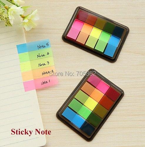 1PC New Candy Color Sticky Note PVC Sticky Notes Office Supply Label / Message Sticker Notes (ss-a522)