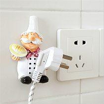 Cute DIY Socket Outlet Electric Wire Plug Holder Wall Hander Storage Rack Safe Protector Organizer Rack Hook Kitchen Gadgets
