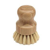 Portabel Sisal Hemp Cleaning Brush Wooden Short Handle Vegetable Countertop Bowl Pot Pan Brush Kitchen Washing Brushes For Home