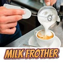 Electric Milk Frother Egg Beater Kitchen Drink Foamer Whisk Mixer Stirrer Coffee Cappuccino Creamer Whisk Frothy Blend Whisker